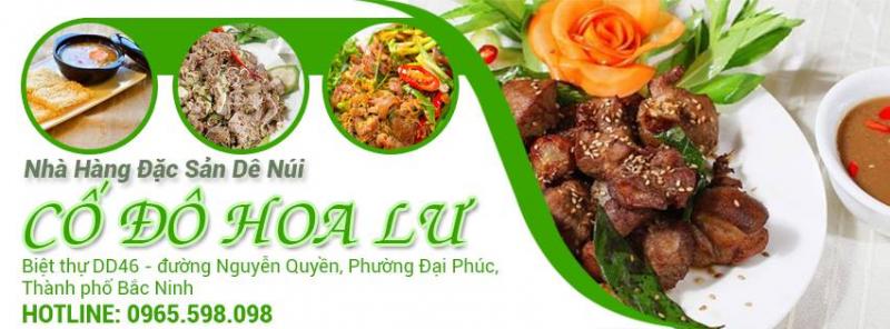 Nhà hàng Cố Đô Hoa Lư - Đặc sản Dê Núi Ninh Bình tại thành phố Bắc Ninh