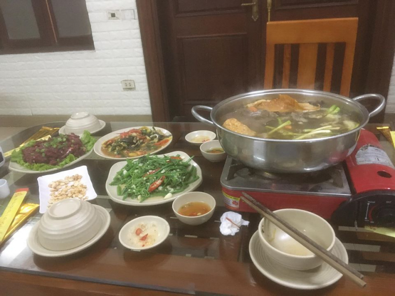 Nhà hàng Hùng Còi Thịt trâu 36 món Quốc Oai.