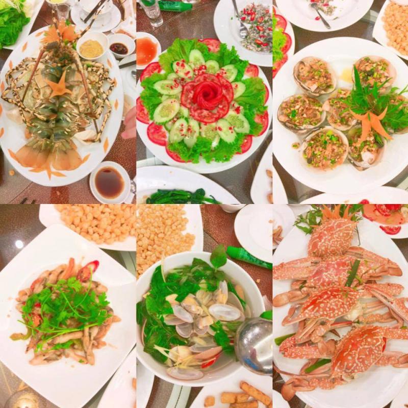 Nhà hàng Hương Biển chuyên món ăn hải sản như: Tôm hùm, cua biển, mực, lẩu hải sản, tôm tích, hào và các loại ốc... và rất nhiều loại hải sản tươi sống khác