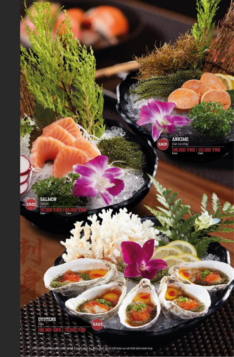 Món ăn trang trí ấn tượng và mang đậm hương vị Nhật Bản