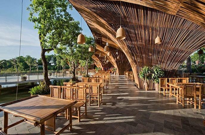 Nhà hàng Lã Vọng được đánh giá là một trong những nhà hàng có không gian đẹp ở Hà Nội