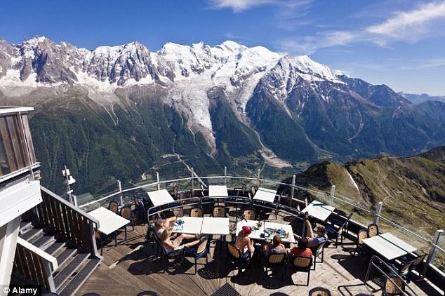 Nhà hàng Le Panoramic tại Chamonix, Pháp