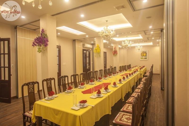 Nhà hàng Phù Đổng là một trong những địa điểm tổ chức tiệc nổi tiếng tại Hà Nội