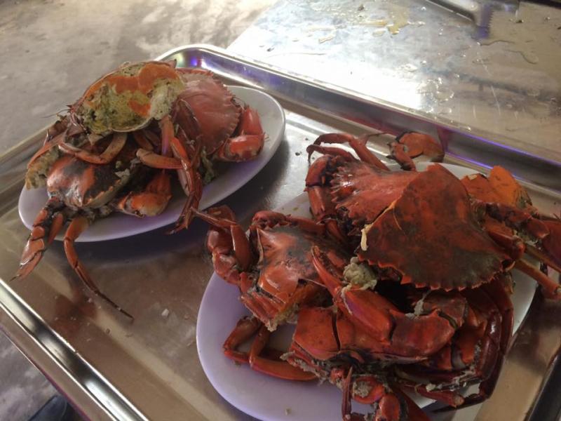 Món ăn thơm ngon được chế biến từ nguyên liệu hải sản tươi sống ở nhà hàng
