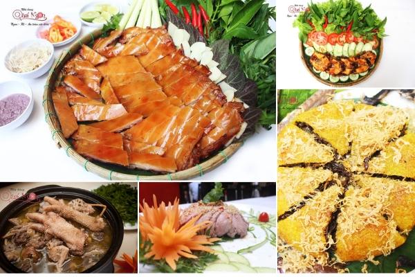 Các món ăn tại nhà hàng Quá Ngon đa dạng từ đặc sản, hải sản cho đến dân gian, hài hòa trong hương vị cũng như cách trình bày đẹp mắt.