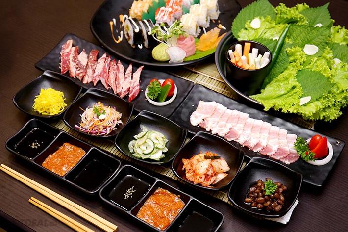 Đồ ăn tại Samurai BBQ & Sushi Buffet rất được lòng thực khách
