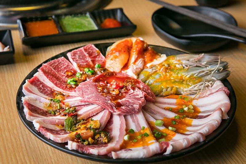 Món ăn tại Thái BBQ Buffet được đánh giá là chất lượng với mức giá khá rẻ