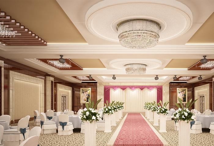 Trung tâm Tiệc cưới - Hội nghị Âu Cơ nổi bật với lối thiết kế kiến trúc hài hòa, sang trọng và hiện đại
