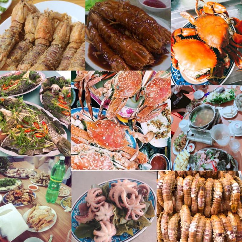 Các món ăn thơm ngon tại nhà hàng Vườn Thông