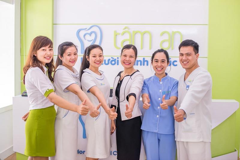 Đội ngũ nhân viên tại nha khoa Tâm An