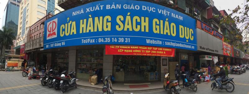 Cửa hàng nhà sách Giáo dục.