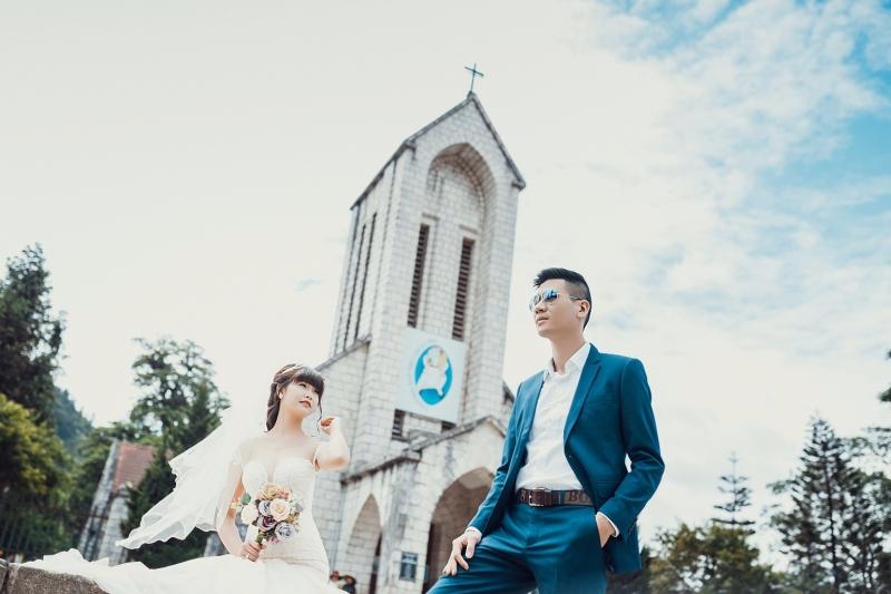 Nhà thờ đá cổ Sapa nơi tạo cho bạn những bộ ảnh cưới đậm chất Sapa