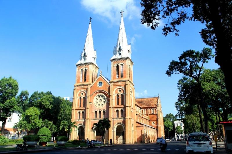 Nhà thờ nằm ở trung tâm HCM