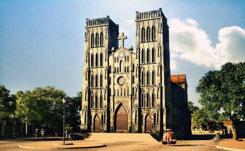Nhà thờ mang đặc trưng kiến trúc Gothic