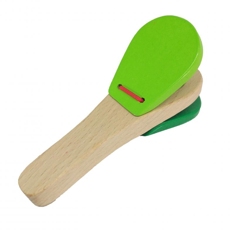Nhạc cụ được làm từ chất liệu gỗ tự nhiên cao cấp, thân thiện với môi trường sẽ giúp các bé nhận biết âm thanh