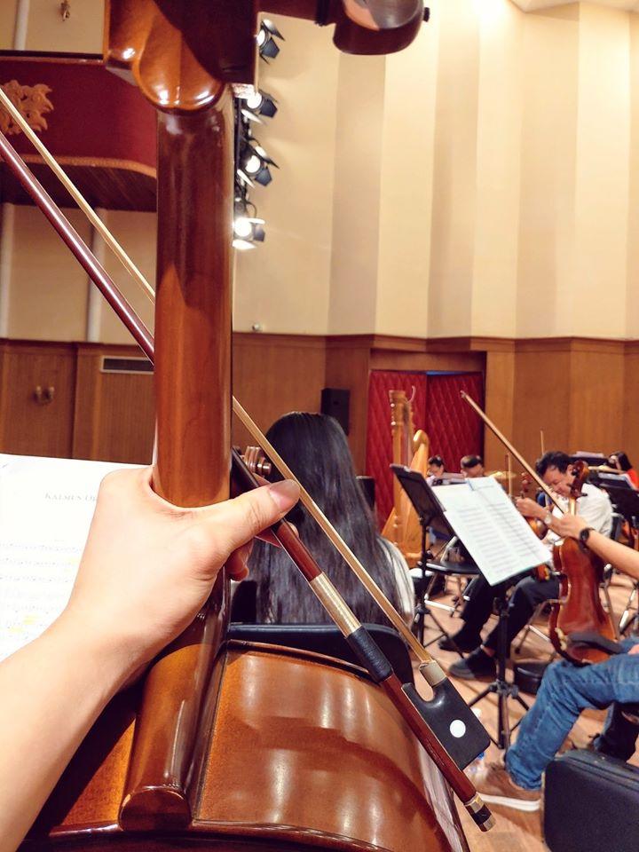 Một tiết học trong Nhạc viện Thành phố Hồ Chí Minh