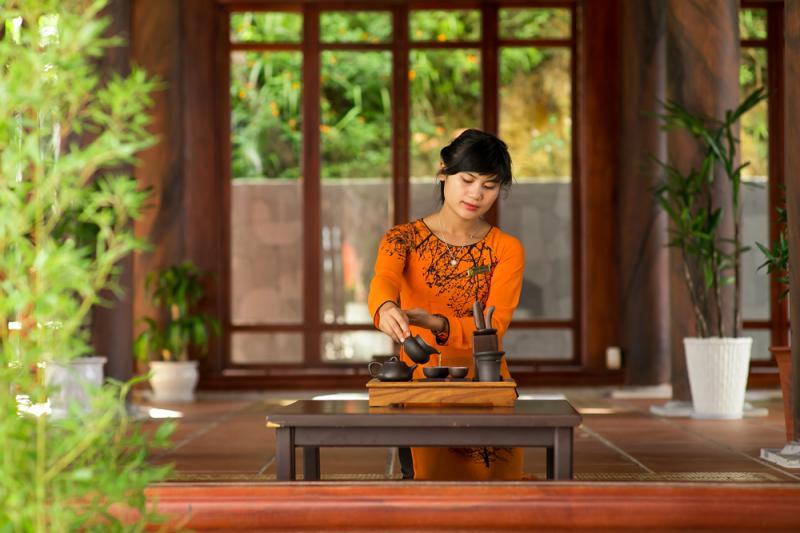 Sip a cup of tea at Tru Vu Tra Quan