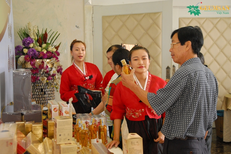 Showroom hân sâm Hàn Quốc Geumsan