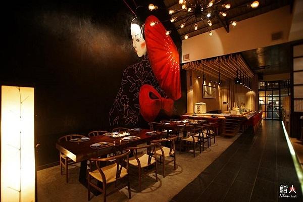 Không gian ấn tượng tại Nhân sushi