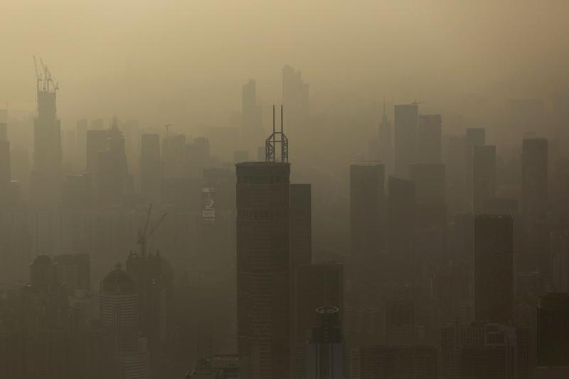 Không biết đây là sương mù hay khói độc thải ra ở thủ đô Tokyo nữa