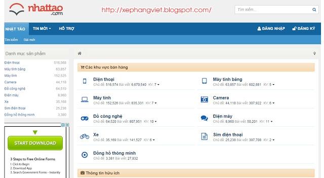 Giao diện nhattao.com