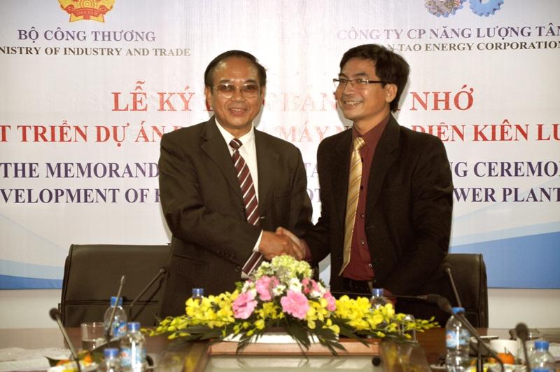 Lễ  ký Biên bản ghi nhớ phát triển dự án Nhà máy nhiệt điện Kiên Lương 1