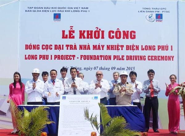 Lễ khởi công Nhà máy Điện lực Long Phú 1 vào năm 2015