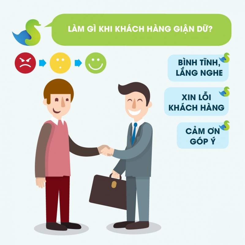 Tư vấn khách hàng một cách nhiệt tình và niềm nở