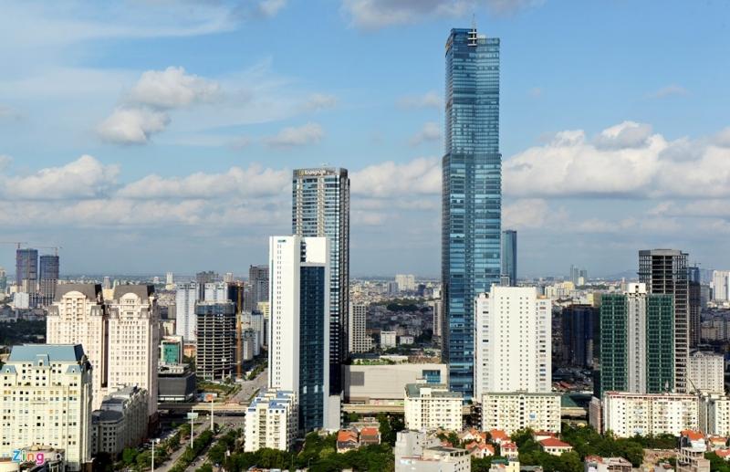 Nhiều nhà cao tầng mọc lên như