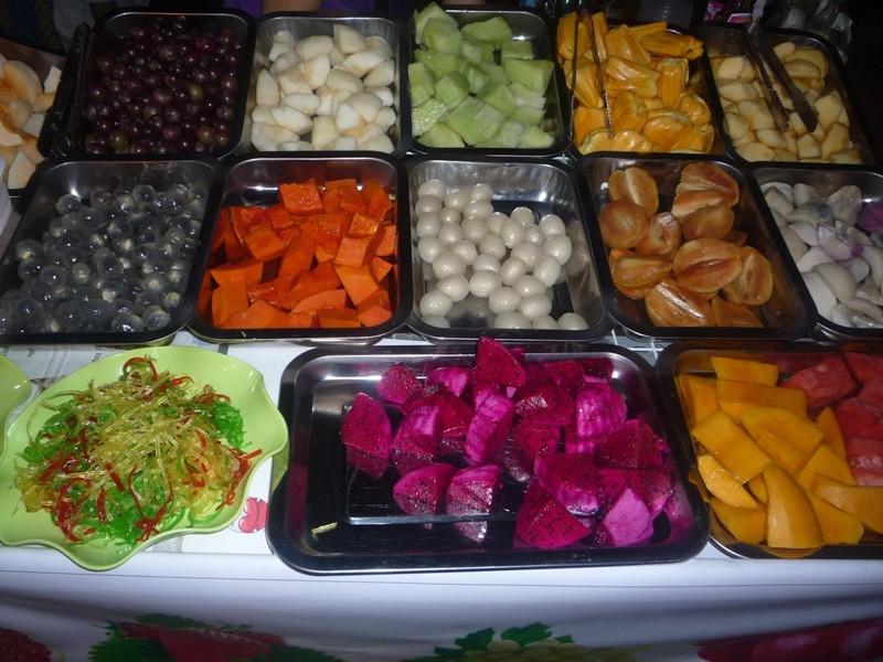 Đủ loại trái cây cho món trái cây xô thơm ngon