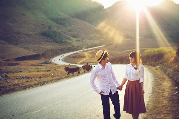 Cặp đôi thêm rạng rỡ với cảnh đẹp tự nhiên vốn có của nơi đây
