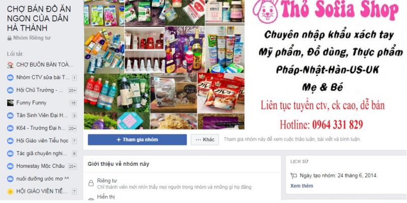 Group chợ bán đồ ăn ngon của dân Hà Thành