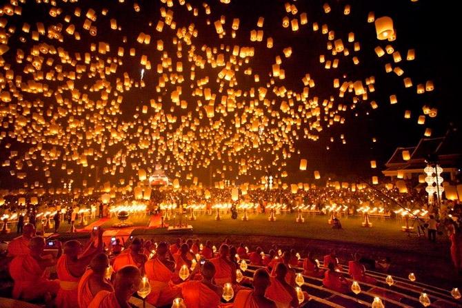 Lễ hội hoa đăng Loy Krathong đặc sắc và hấp dẫn