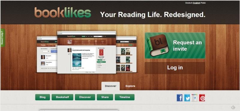 Giao diện của booklikes khá đẹp