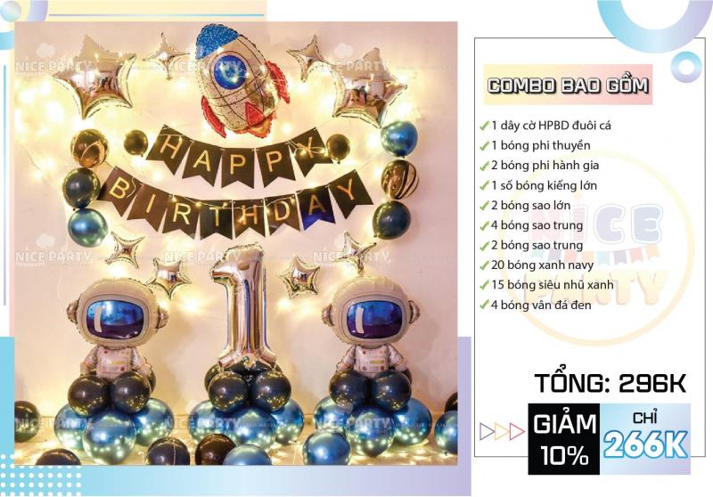 Phụ Kiện, Bong Bóng Trang Trí Sinh Nhật Cần Thơ - Nice Party Store