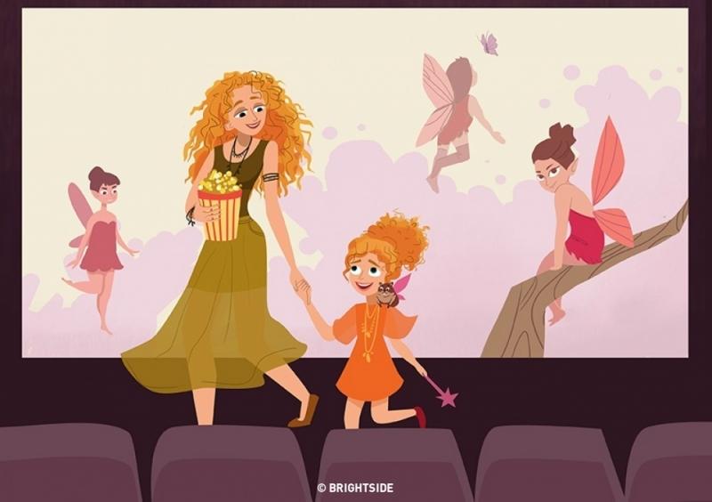 Đi xem phim cùng nhau.