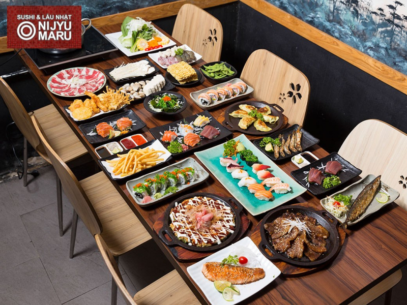 Buffet Nhật hấp dẫn tại nhà hàng