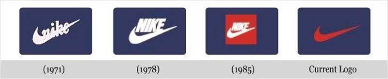 Logo của Nike qua các thời kì