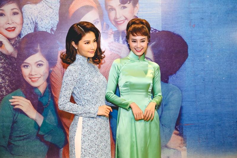 Lan Ngọc và Diễm My tại buổi họp báo ra mắt Cô Ba Sài Gòn