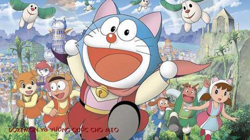 Nobita ở vương quốc chó mèo.