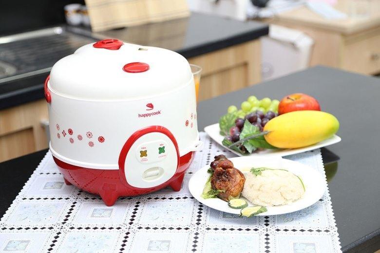 Nồi cơm Happycook HC-120 sở hữu thiết kế vô cùng ngộ nghĩnh