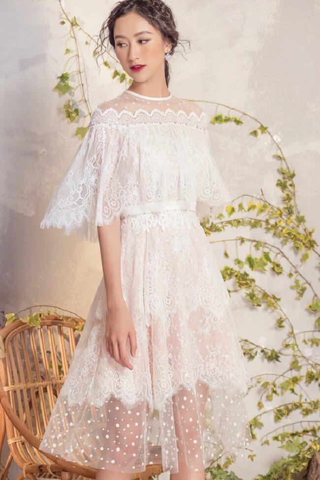 Nói không với váy ren trắng