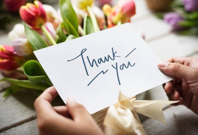 Nói lời cảm ơn đến mọi người