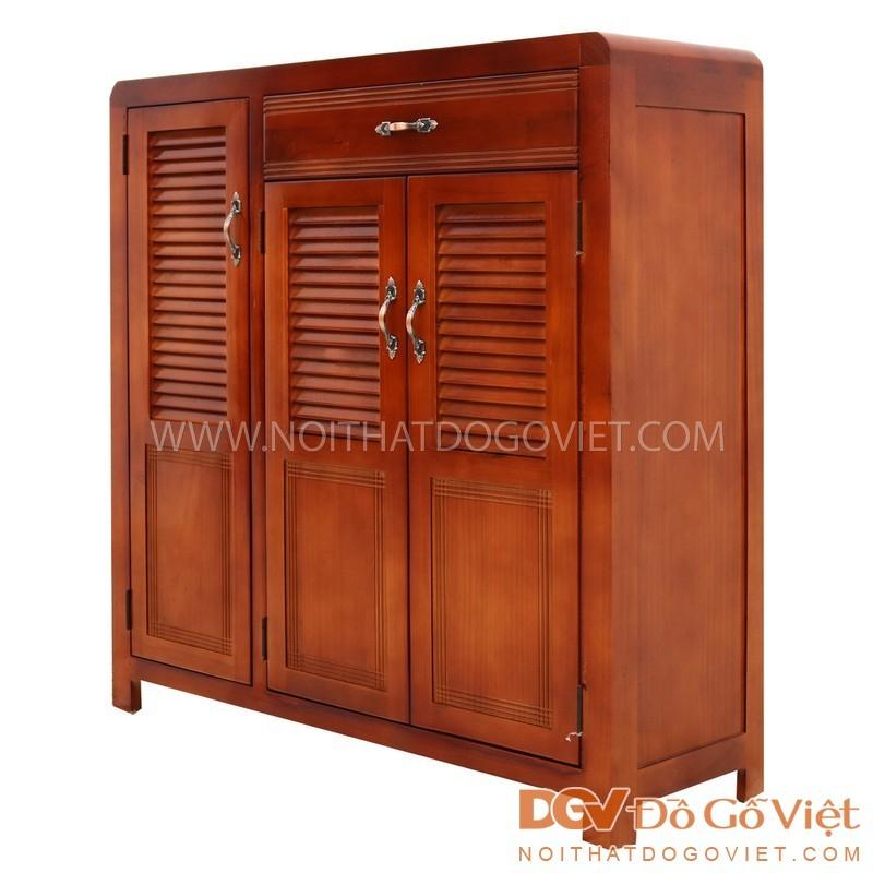 Mẫu tủ gỗ sồi thiết kế đơn giản nhưng vẫn hết sức sang trọng, chắc chắn
