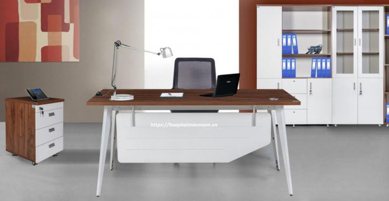 Mẫu bàn ghế nội thất văn phòng kiểu hiện đại do Hòa Phát cung cấp