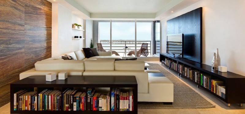 Nội thất phòng đọc sách, thiết kế của IQ