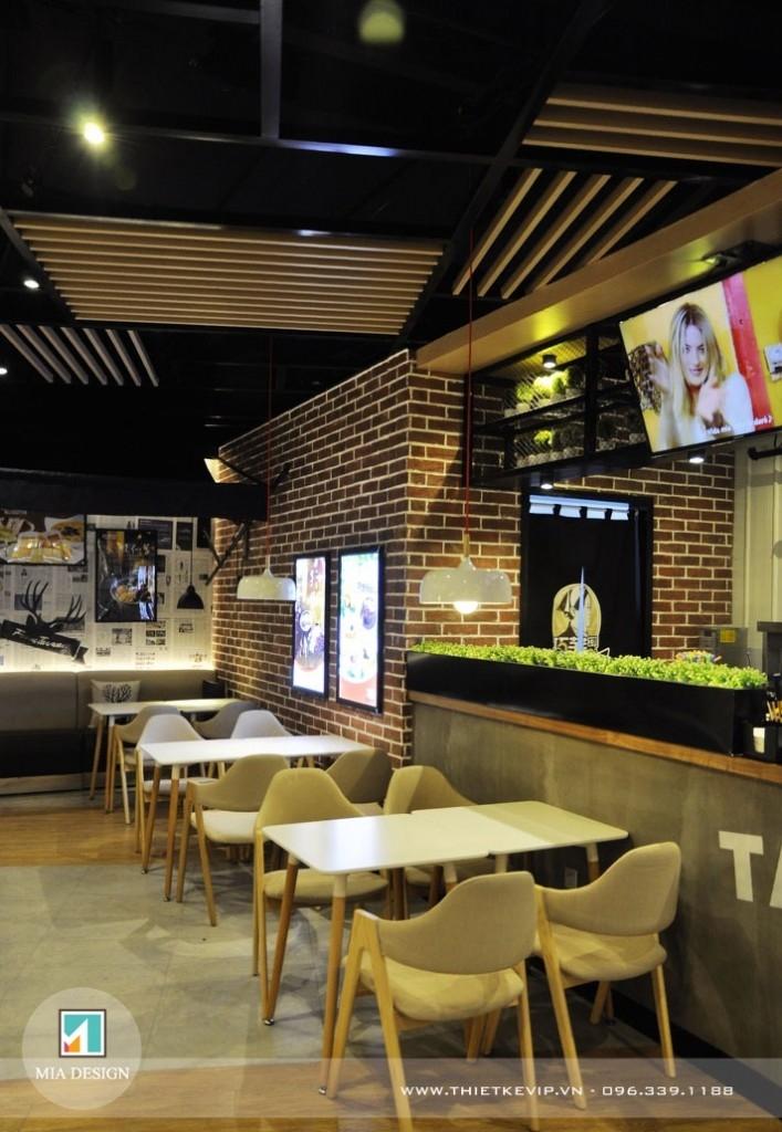 Thiết kế nội thất quán café theo phong cách hiện đại