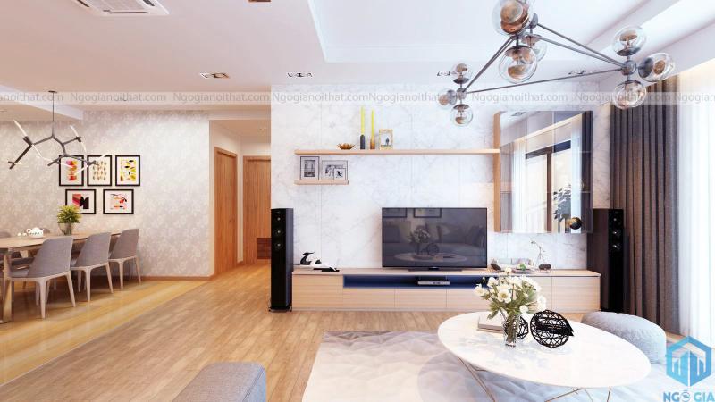 Không gian phòng khách - thiết kế của Ngô Gia