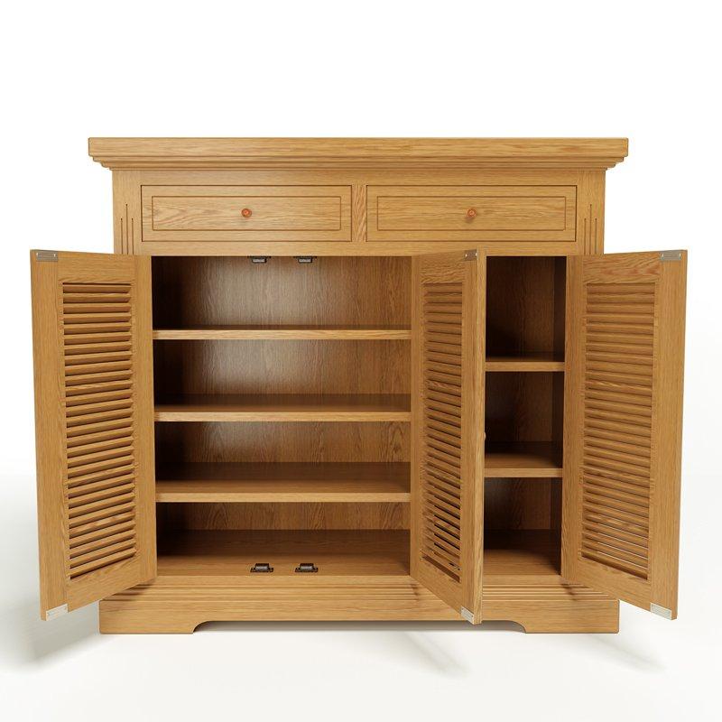 Mẫu tủ cánh mở nhiều ngăn bằng gỗ sồi nhập Mỹ ở Nolulu