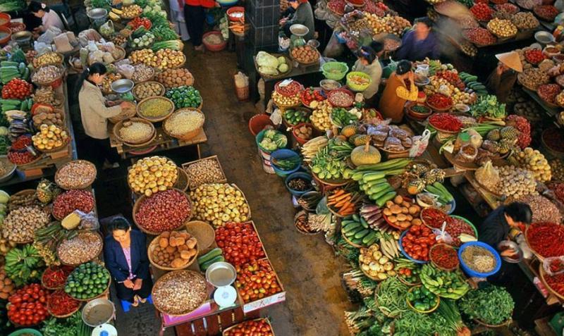 Chợ nông sản Đà lạt